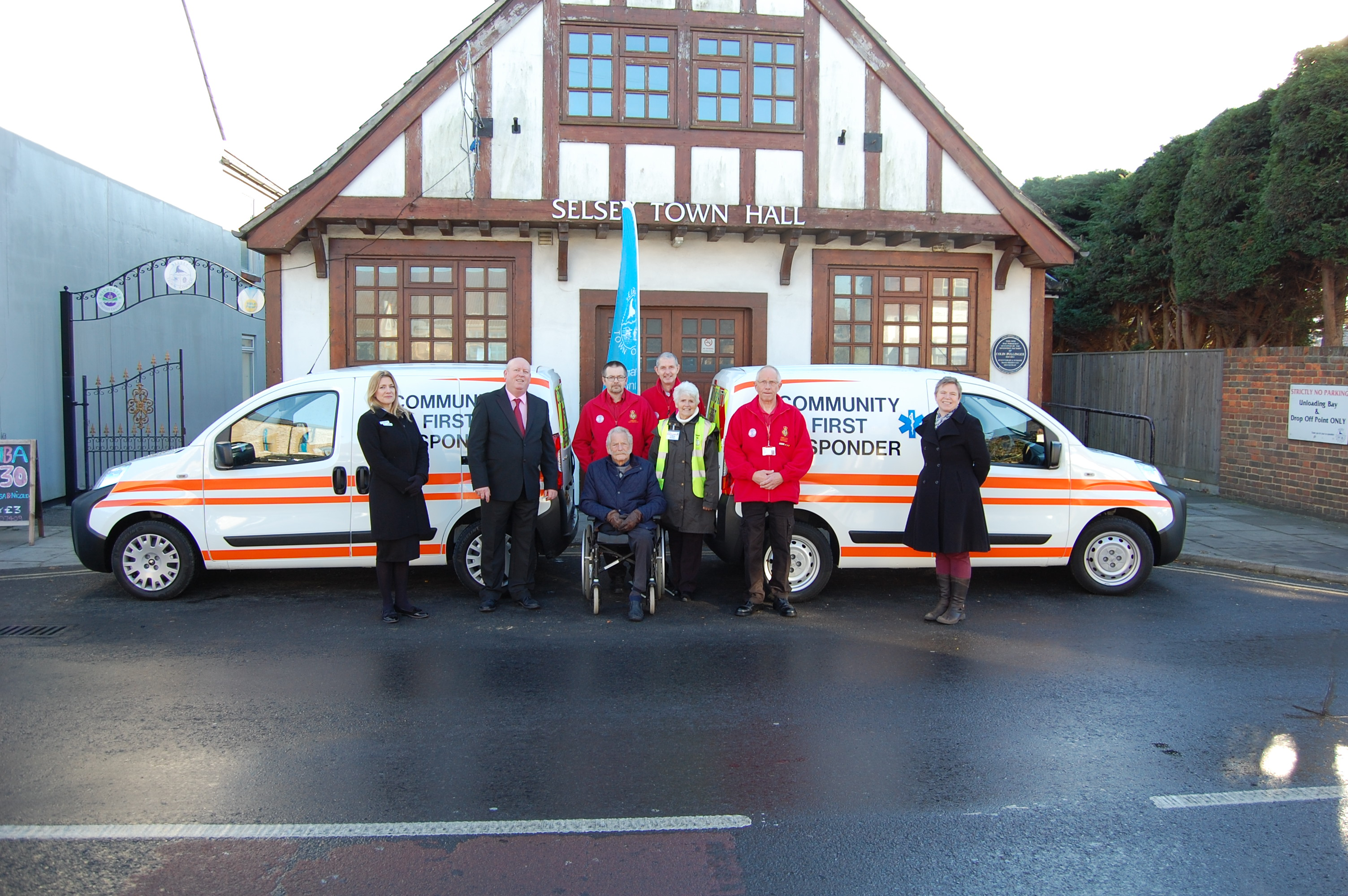 Selsey Town Council - handing over the vans